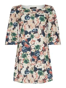 Vila 3/4 Sleeve Printed Dress