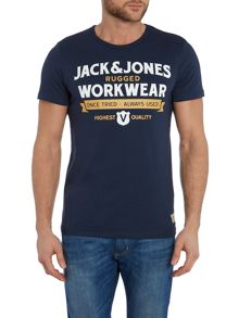 Jack & Jones Workwear Logo Crew Neck Short Sleeve T-shirt