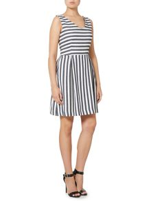 Armani Jeans Sleeveless v neck stripe dress