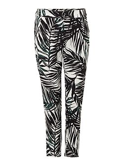 Printed trouser casual palm