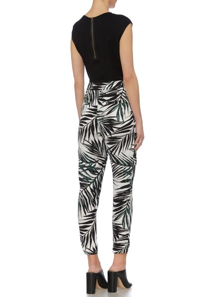 Linea Printed trouser casual palm