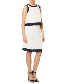 Armani Jeans Sleeveless over layer contrast trim dress