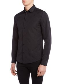 Versace Jeans Slim fit all over tonal logo shirt