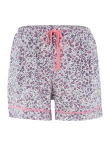 DKNY Animal print drawstring shorts