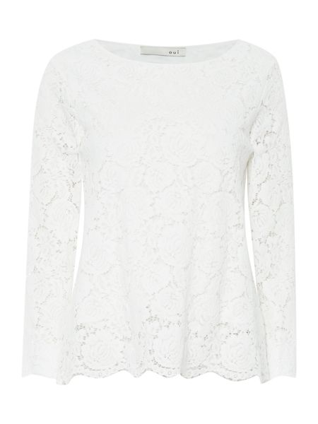 Oui Long sleeve lace top
