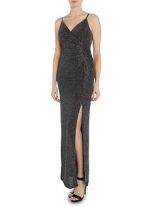 Lipsy Sleeveless V Neck All Over Glitter Maxi Dress