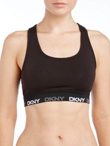 DKNY cropped logo tank top