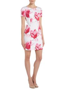 Armani Jeans Short sleeve floral print shift dress
