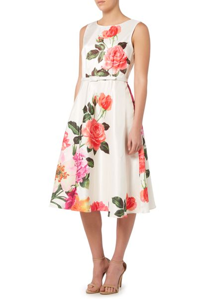 Untold Fit and flare dress with placement print