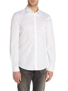 Versace Jeans Slim fit cotton logo shirt