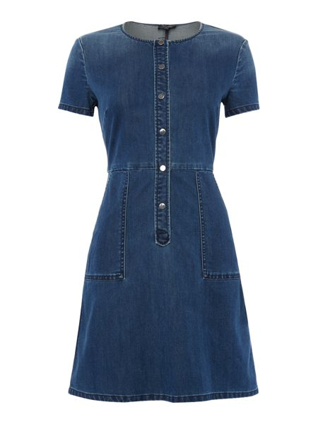 Armani Jeans Short sleeve denim dress with buttons