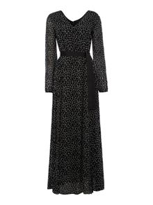 Armani Jeans Long sleeve giraffe print maxi dress