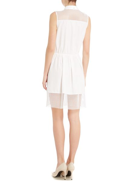 Armani Jeans Sleeve shirt dress with mesh trim