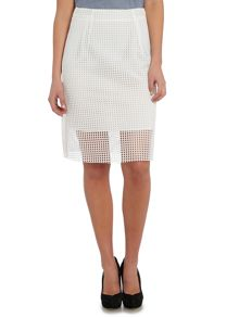Armani Jeans Knee length mesh skirt