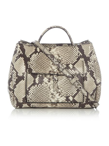 Kenneth Cole Multi snake tote crossbody bag