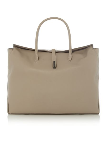 Kenneth Cole Grey flapover tote bag