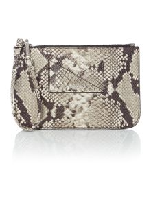 Kenneth Cole Multi snake pouchette bag
