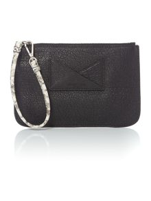 Kenneth Cole Black snake pouchette bag