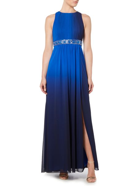 JS Collections Ombre dress with beaded waist