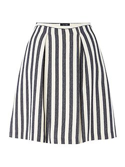 Aline pleat stripe skirt