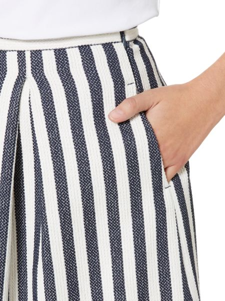 Armani Jeans Aline pleat stripe skirt