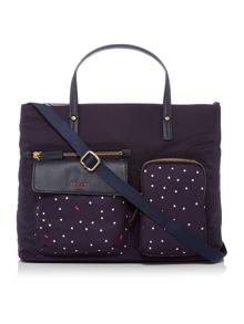 Radley Cheshire navy large multiway bag