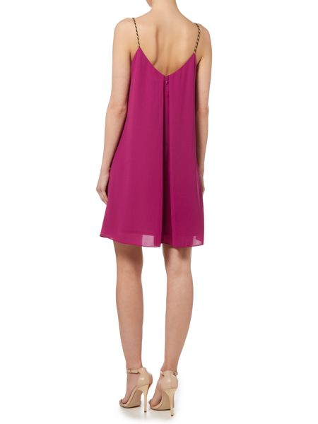 Biba Shoulder detail frill dress
