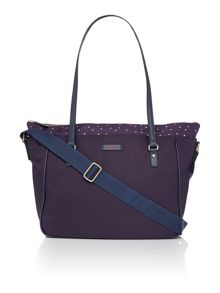 Radley Cheshire street navy large baby bag