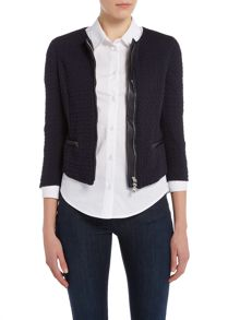 Armani Jeans 3/4 sleeve texture zip through jacket