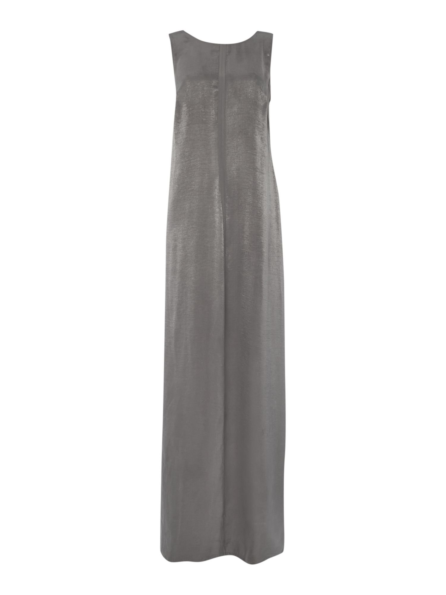 Label Lab Satin plunge back v maxi dress, Grey