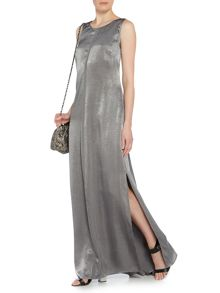 Label Lab Satin plunge back v maxi dress