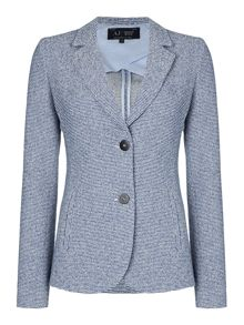 Armani Jeans Single breasted tweed blazer