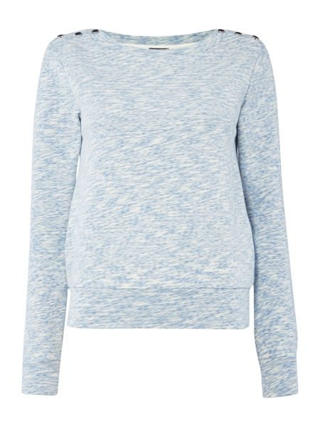 Armani Jeans Long sleeve jersey sweat with button details