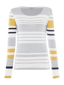 Barbour Bowline stripe knit jumper