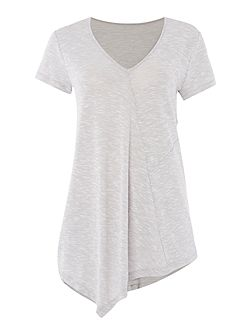 Alva Short Sleeve Asymmetric Jersey Top