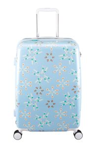 Radley Lido blue 8 wheel hard medium suitcase