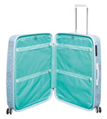 Radley Lido blue 8 wheel hard large suitcase