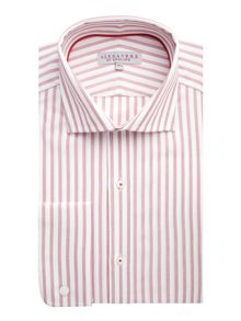 Alexandre of England Wide dobby stripe formal shirt