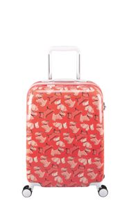 Radley Fleet street orange 8 wheel hard cabin suitcase