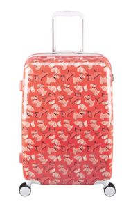 Radley Fleet street orange 8 wheel hard medium suitcase
