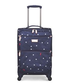 Radley Cheshire street navy 4 wheel soft cabin suitcase