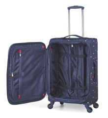 Radley Cheshire street navy 4 wheel soft medium suitcase