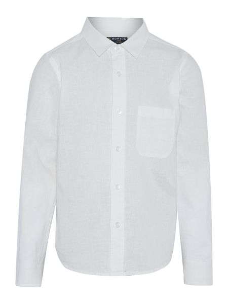 Howick Junior Boys Roll Up Sleeve Linen Shirt with Bow Tie