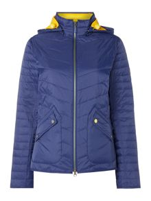 Bowline quilted hooded jacket