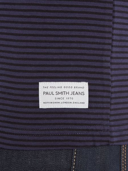 Paul Smith Jeans Regular fit crew neck thin stripe t shirt