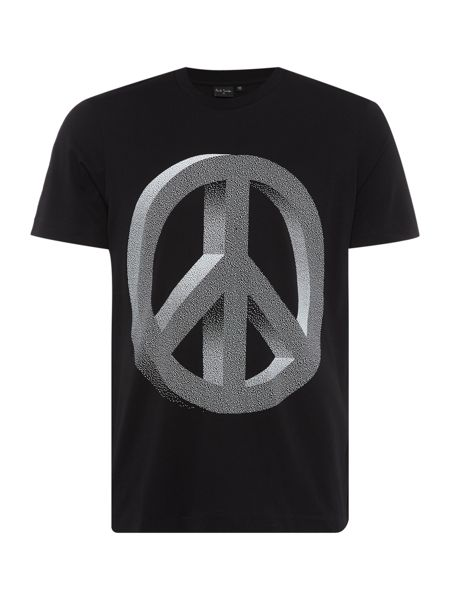 PS By Paul Smith Regular fit crew neck peace sign printed t shirt