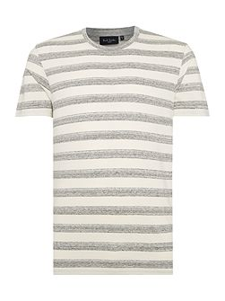 Regular fit crew neck wide space stripe t