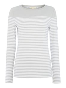 Barbour Staithes stripe and plain body panelled top