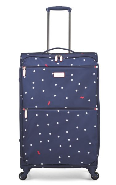 Radley Cheshire street navy 4 wheel soft large suitcase