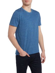 Paul Smith Jeans Regular fit crew neck melange stripe t shirt